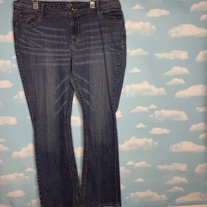 Ana- Medium Wash Bootcut Jeans size 22w